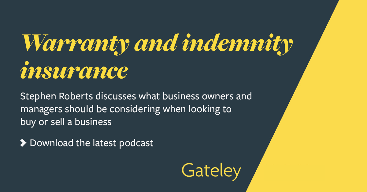 Buying or selling your business: warranty and indemnity ...